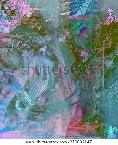 Nice large scale Abstract original Oil On Canvas - stock photo