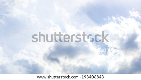 Nice Light sky with cloud ,blue sky - stock photo