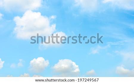 Nice Light sky with cloud ,blue sky. - stock photo