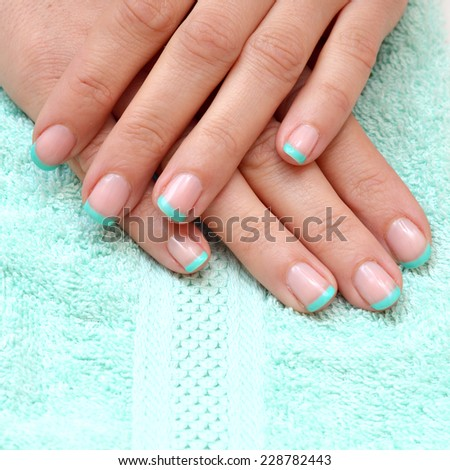 nice manicured woman  - stock photo