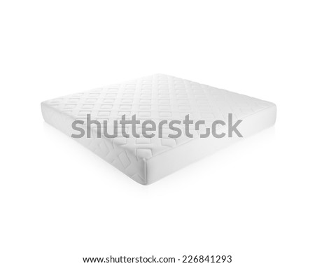 Nice mattress that supported you to sleep well all night isolated on white background - stock photo