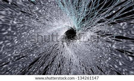 nice microscopic fibers bring light into the center - stock photo