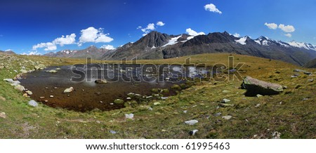 Nice mountain landscape in Oetztal Alps (Austria) - stock photo