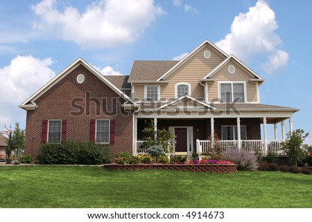 Nice, newly constructed home - stock photo