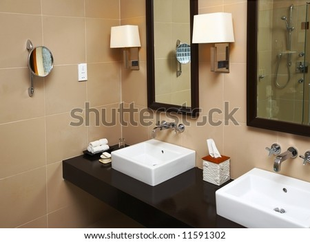 Nice part of a bathroom - stock photo