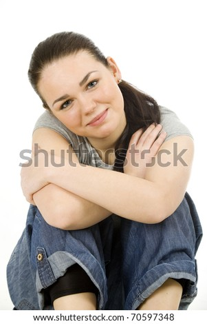 Nice smiling woman - stock photo