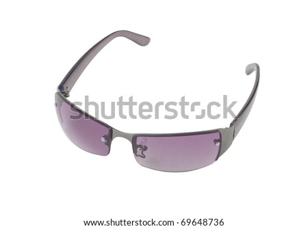 Nice sunglasses for outdoor traveling isolated on white background  - stock photo