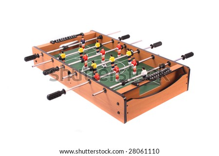 nice table soccer on the white background - stock photo