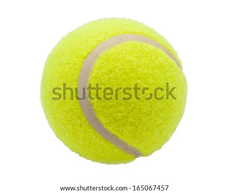 Nice Tennis ball isolated on white background - stock photo