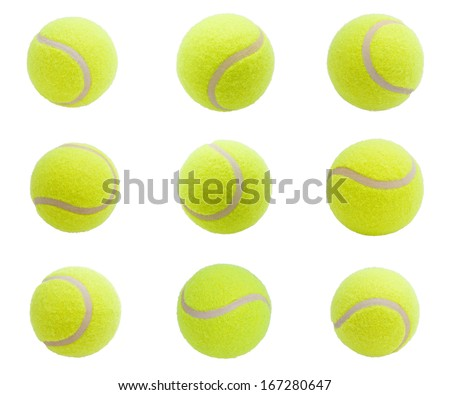 Nice Tennis balls isolated on white background - stock photo