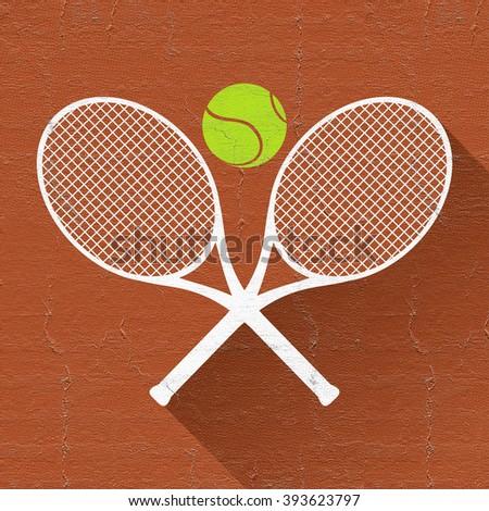 nice tennis icon - stock photo