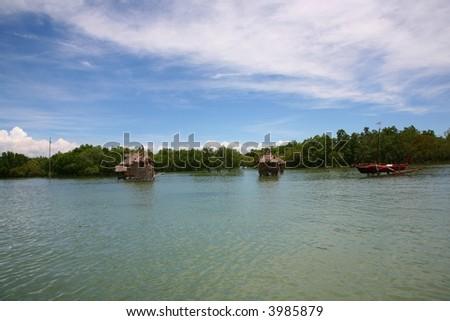 nice view from cebu island - stock photo