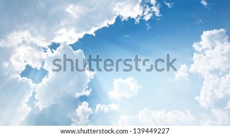 Nice white cloud on the sky - stock photo