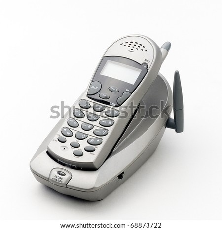 nice wireless telephone - stock photo