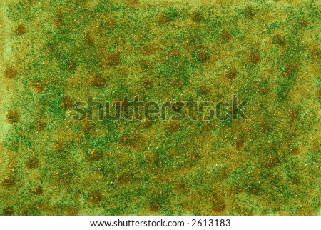 Nice yellow and green abstract background. Different bright colors and glitter. - stock photo