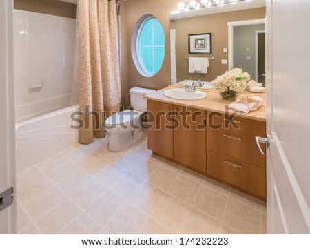 Washroom stock photos images pictures shutterstock - Nicely decorated bathrooms ...