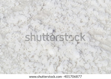 Nicely detailed close up of the salt at the Bonneville Salt Flats in Utah - stock photo