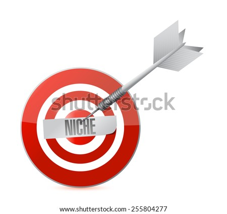 niche target illustration design over a white background - stock photo
