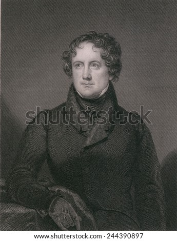 Nicholas Biddle 1786-1844 was appointed as a director of the Second Bank of the United States in 1816. In 1822 he became its president the role he held during the Bank War 1832-36. - stock photo