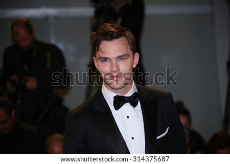 Nicholas Hoult attends the premiere of 'Equals' during the 72nd Venice Film Festival at Sala Grande on September 5, 2015 in Venice, Italy. - stock photo