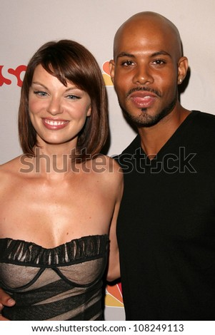 Nichole Hiltz and Todd Williams  at the NBC Universal 2008 Press Tour All Star Party. Beverly Hilton Hotel, Beverly Hills, CA. 07-20-08 - stock photo