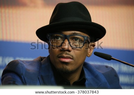 Nick Cannon attends the 'Chiraq' press conference during the 66th Berlinale International Film Festival Berlin at Grand Hyatt Berlin Hotel, in Berlin, Germany on February 16, 2016. - stock photo