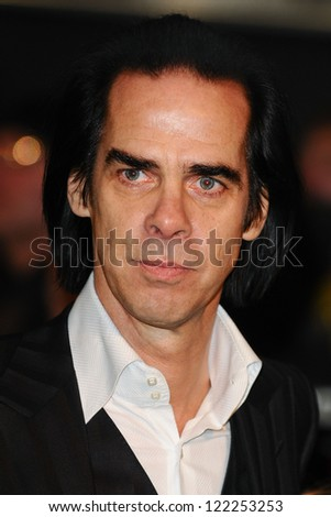 """Nick Cave arriving for the premiere of """"The Hobbit: An Unexpected Journey"""" at the Odeon Leicester Square, London. 12/12/2012 Picture by: Steve Vas - stock photo"""
