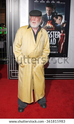 "Nick Nolte at the Los Angeles premiere of ""Gangster Squad"" held at the Grauman's Chinese Theatre, Los Angeles, USA on January 7, 2013. - stock photo"