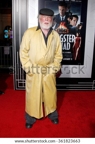 "Nick Nolte at the Los Angeles premiere of ""Gangster Squad"" held at the Grauman's Chinese Theatre in Los Angeles, USA on January 7, 2013. - stock photo"