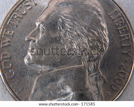 nickel - stock photo