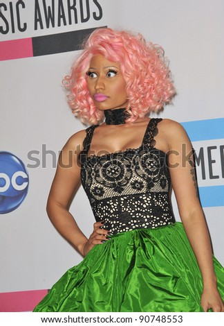 Nicki Minaj at the 2011 American Music Awards at the Nokia Theatre L.A. Live in downtown Los Angeles. November 20, 2011  Los Angeles, CA Picture: Paul Smith / Featureflash - stock photo