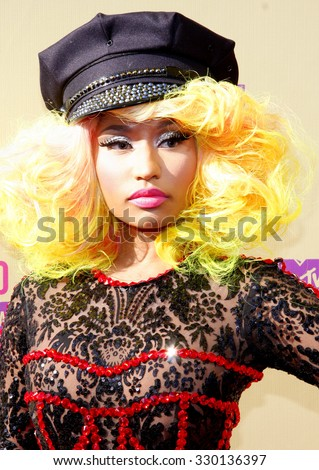 Nicki Minaj at the 2012 MTV Video Music Awards held at the Staples Center in Los Angeles, USA on September 6, 2012.  - stock photo