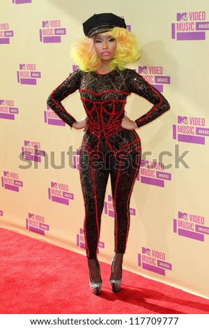 Nicki Minaj at the 2012 Video Music Awards Arrivals, Staples Center, Los Angeles, CA 09-06-12 - stock photo
