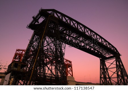Nicolas Avellaneda Bridge, in La Boca, Buenos Aires, this is a very popular tourist destination in Buenos Aires, Argentina - stock photo