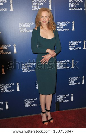Nicole Kidman at the Hollywood Foreign Press Association's 2013 Annual Luncheon at the Beverly Hilton Hotel. August 13, 2013  Beverly Hills, CA - stock photo
