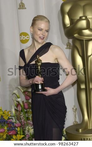 NICOLE KIDMAN at the 75th Academy Awards at the Kodak Theatre, Hollywood, California. March 23, 2003 - stock photo