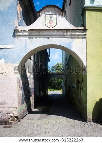 Niemcza town in Poland - stock photo