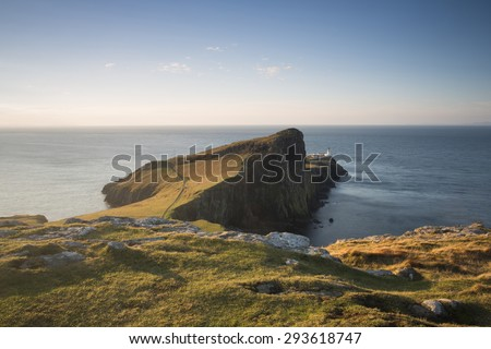 niest point at sunrise on the isle of skye - stock photo
