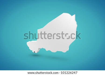 Niger Map - stock photo