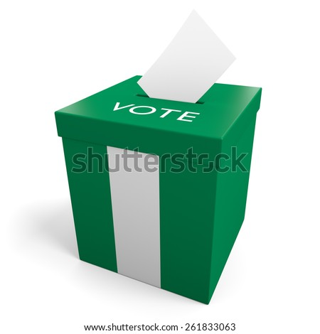 Nigeria election ballot box for collecting votes - stock photo