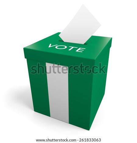 Nigeria election ballot box for collecting votes - stock photo