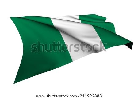 Nigeria flag - collection no_5  - stock photo