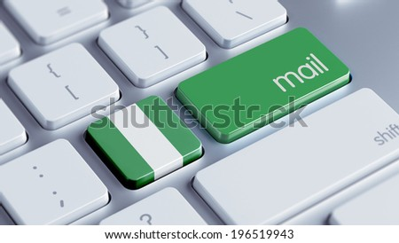 Nigeria  High Resolution Mail Concept - stock photo