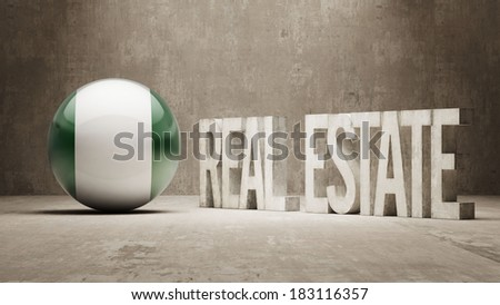 Nigeria High Resolution Real Estate Concept - stock photo