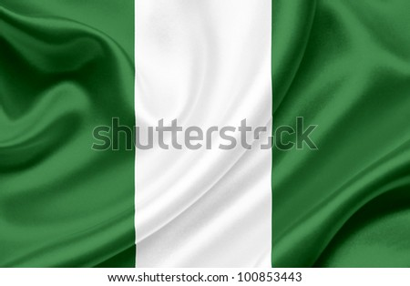 Nigeria waving flag - stock photo