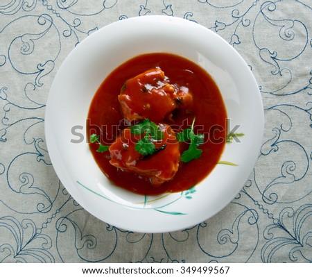 Nigerian Fish Stew - Obe Eja Tutu.African cuisine - stock photo