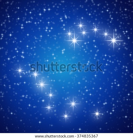Night Blue sky with stars Abstract background.    - stock photo