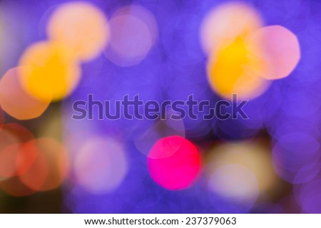 night  bokeh of lights decorate the Christmas and New Year every year. - stock photo