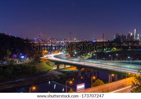 Night City LandScape of the Seoul, Korea. - stock photo