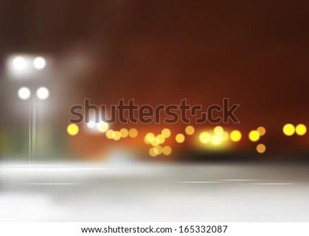 night cityscape - stock photo
